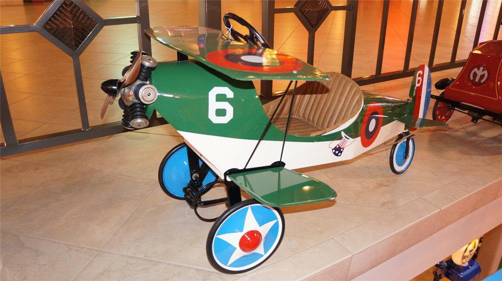 "1927 Steelcraft ""Spirit of America"" restored pedal airplane. - Front 3/4 - 179662"