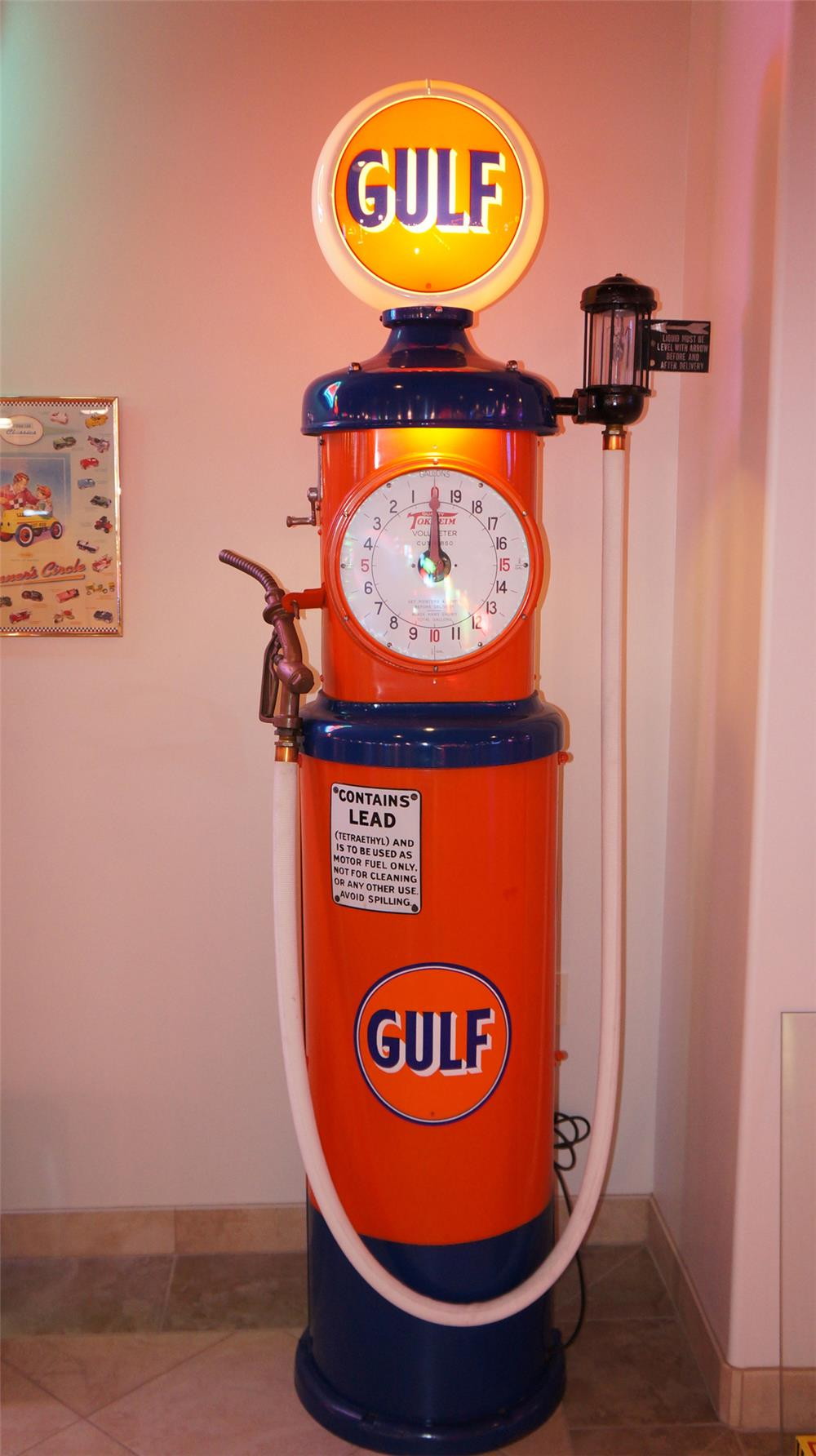 1920 u0026 39 s tokheim 850 gulf oil restored clock face gas pump