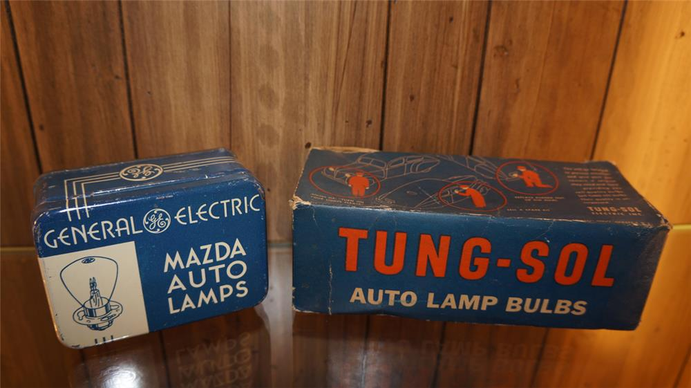 Lot of two 1930's-40's automotive garage auto lamp bulb kits - Front 3/4 - 179807