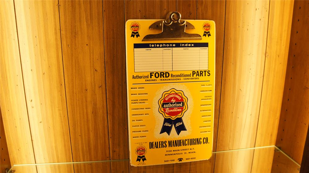1950's Ford Reconditioned parts service department clipboard. - Front 3/4 - 179823