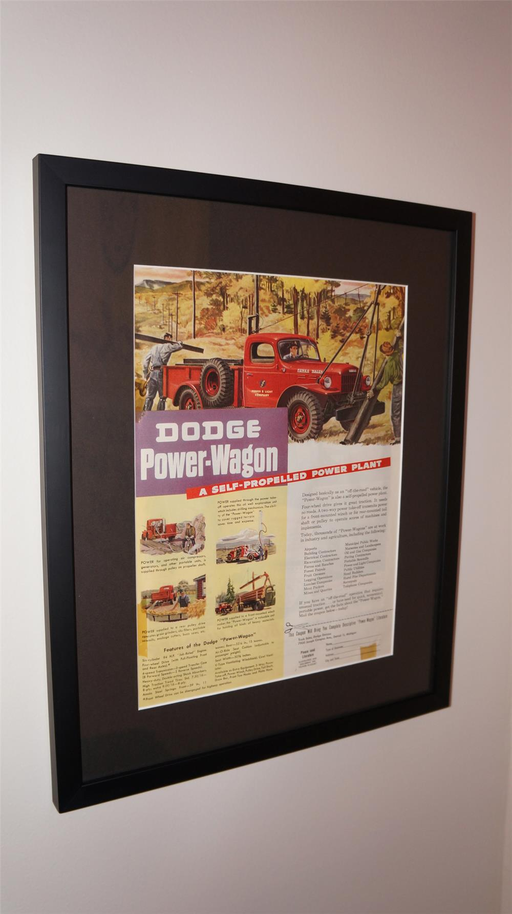 1950's Doge Trucks framed advertisement. - Front 3/4 - 179826