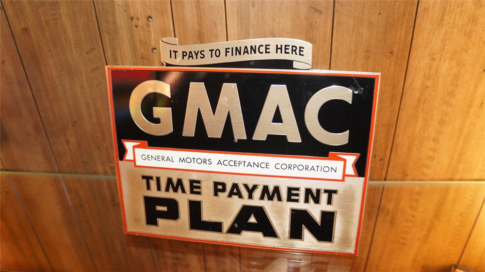 1950's GMAC Time Payment Plan dealer showroom counter-top display sign. - Front 3/4 - 179853