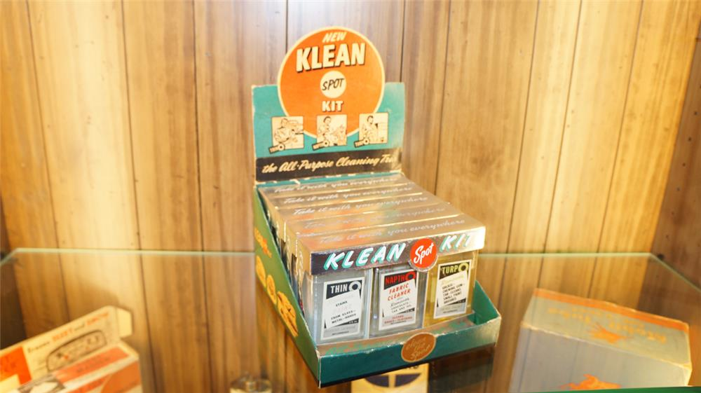 vintage klean it automotive fabric upholstery cleaner display 180038. Black Bedroom Furniture Sets. Home Design Ideas