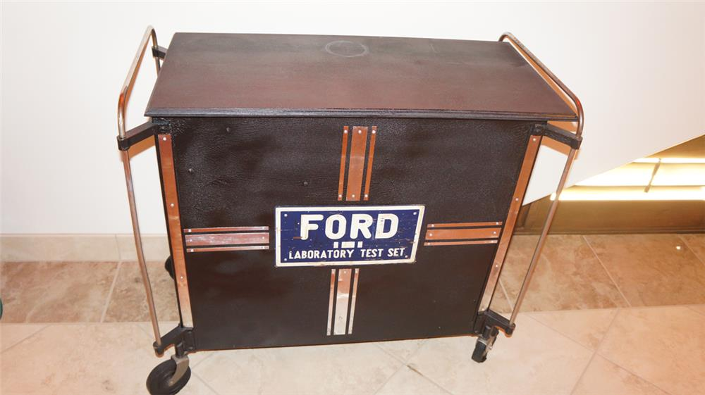 1940's Ford Laboratory Test Set service department work bench on wheels. - Front 3/4 - 180055