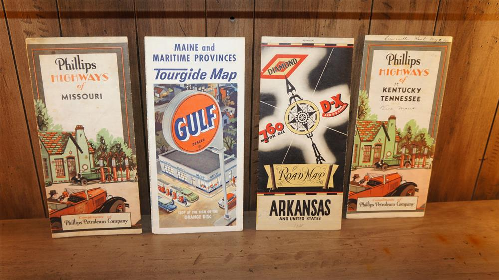 Lot of four vintage road maps - Front 3/4 - 180071