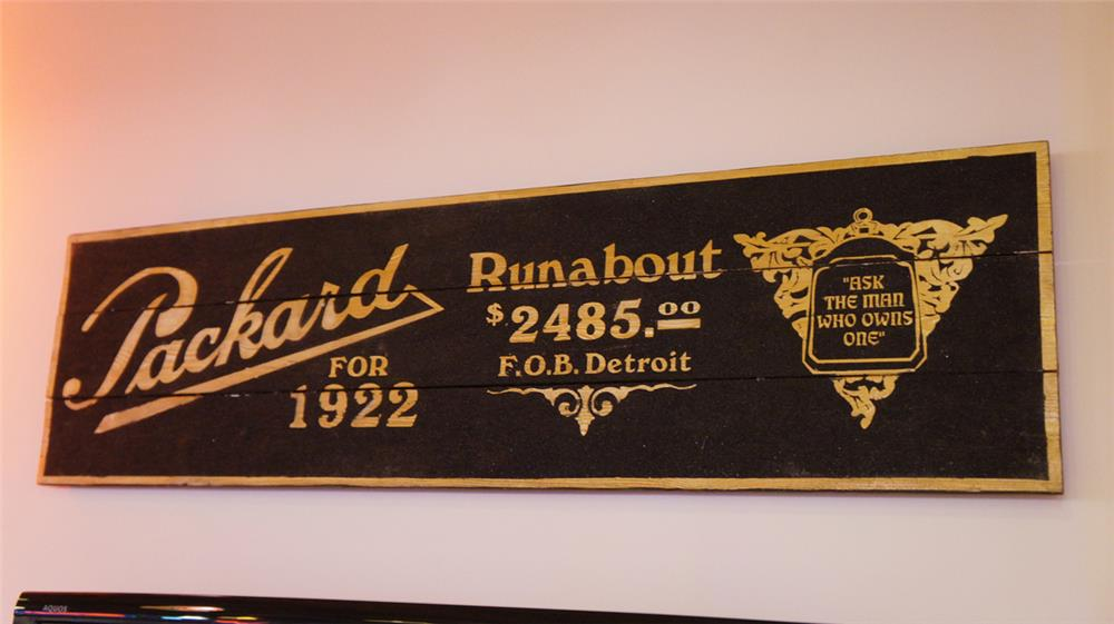Circa unknown Packard for 1922 showroom sign - Front 3/4 - 180126
