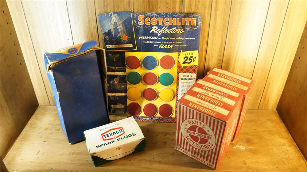 Lot of unused circa 1940's-60's service station products - Front 3/4 - 180141