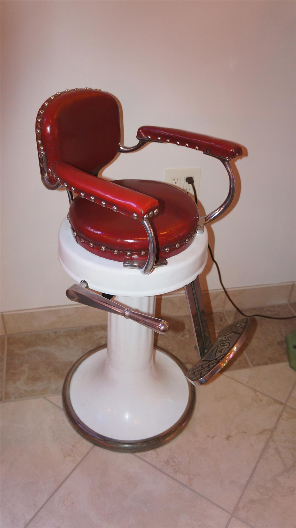 Stunning 1920's Koken Child's Barber Chair found in all original condition. - Front 3/4 - 180158