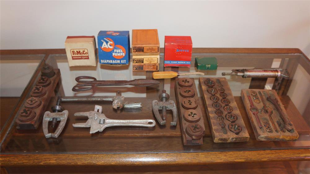 Large lot of vintage 1920's-30's Automotive garage tools and accessories. - Front 3/4 - 180235