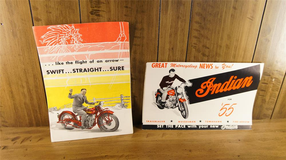 Lot consisting a 1955 Indian Motorcycles Brochure and a 1931 Indian Motorcycles Brochure. - Front 3/4 - 180301