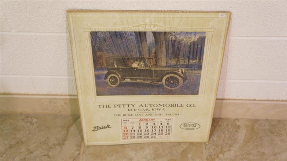 N.O.S. 1928 The Petty Automobile Company Buick - GMC unused dealership calendar - Front 3/4 - 180470