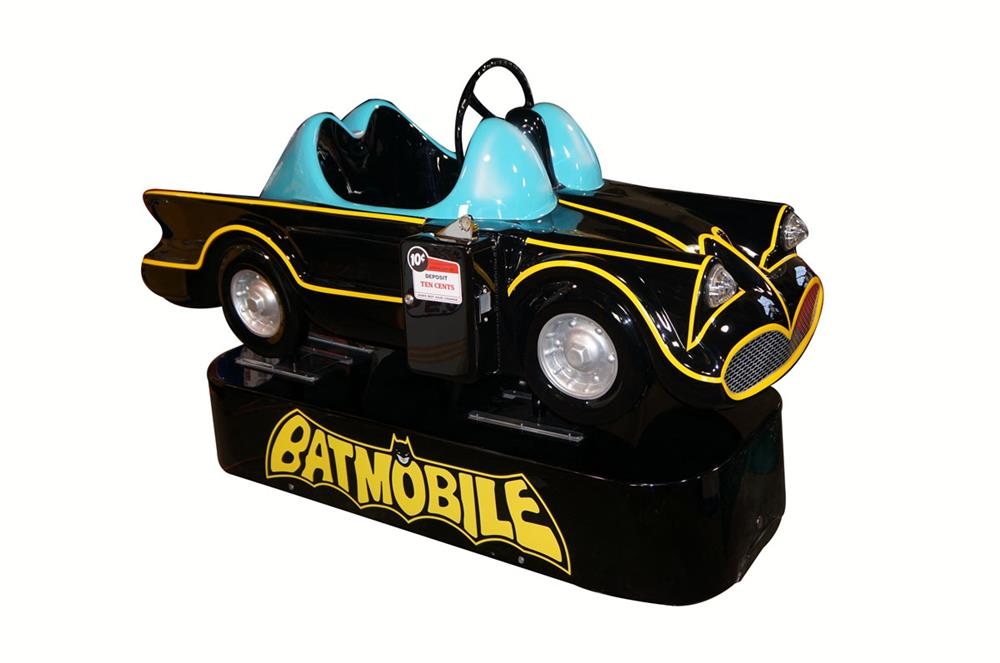 1960's Bat mobile restored ten cent coin-operated kiddy ride. - Front 3/4 - 181931