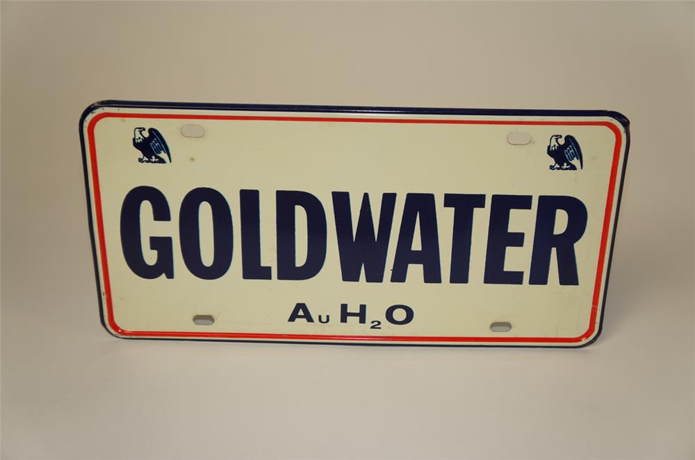 NOS 1964 Goldwater for President license plate sign with Eagle logo. - Front 3/4 - 181979