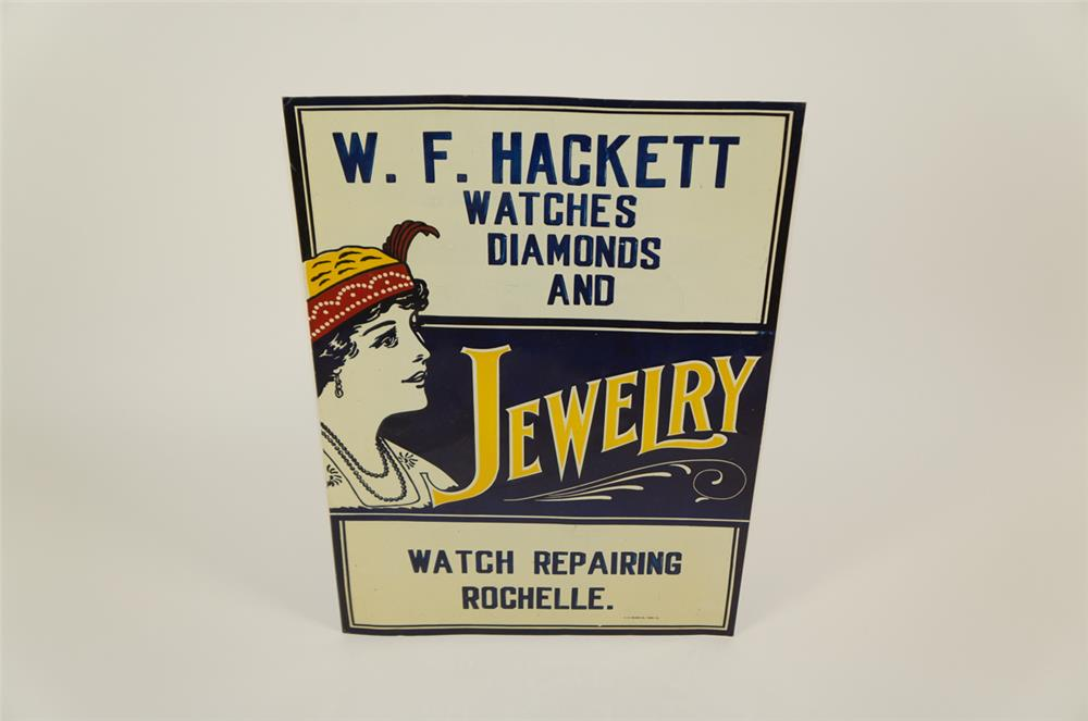 1920's Watches, Diamonds and Jewelry single-side embossed tin sign - Front 3/4 - 182034