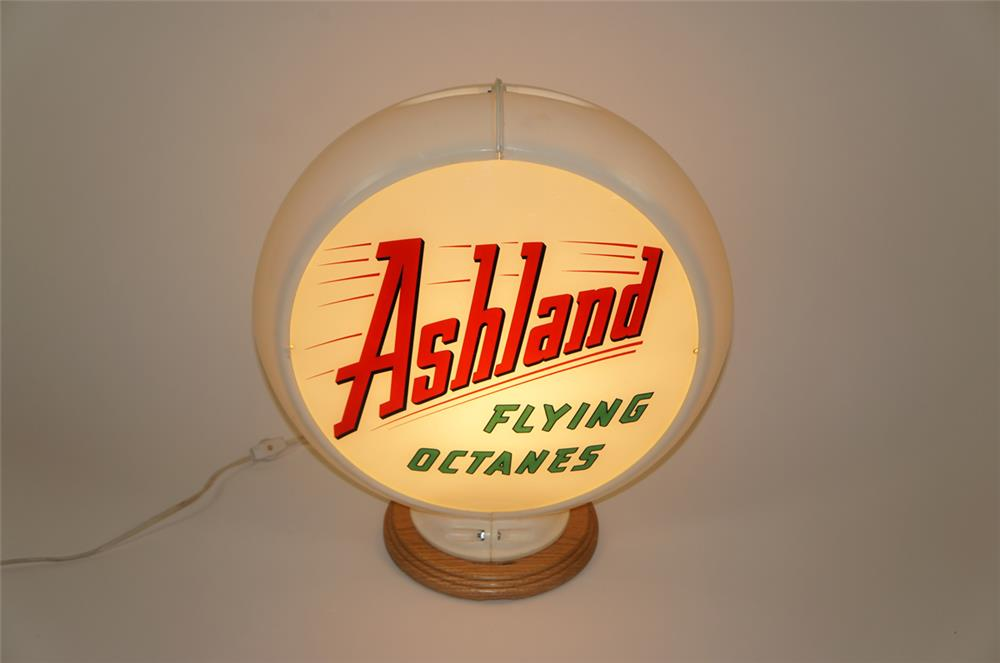 Ashland Flying Octanes gas pump globe in a Capcolite body. - Front 3/4 - 182037