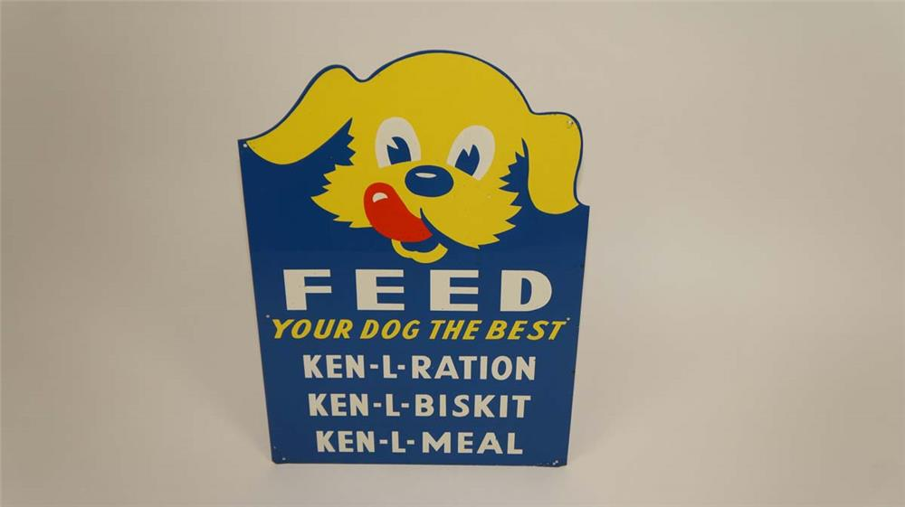"1950's Ken-L-Ration ""Feed Your Dog the Best"" single-sided tin sign - Front 3/4 - 182156"