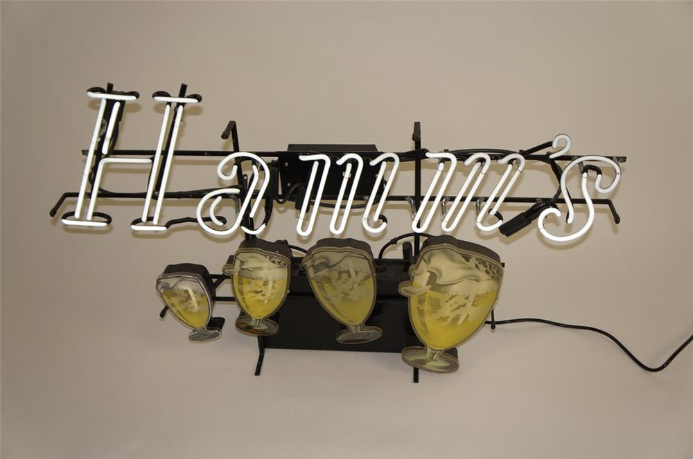 "1950's Hamm's ""Floating Mugs"" neon tavern sign. - Front 3/4 - 182170"
