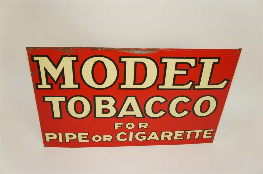 1938 Model Tobacco for Pipe or Cigarette tin sign. - Front 3/4 - 182189