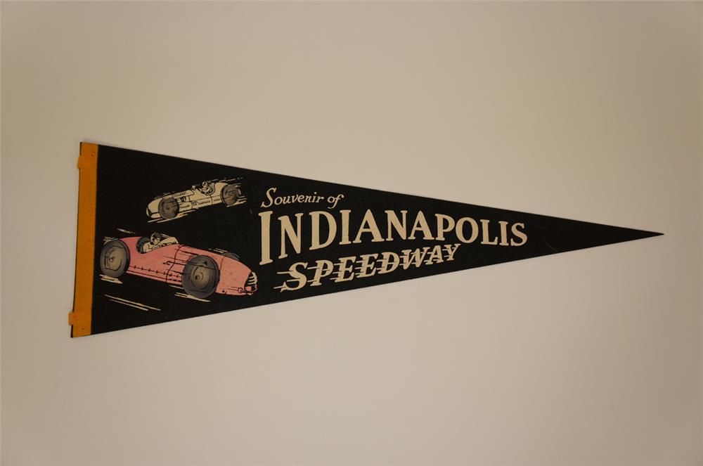 Circa late 1940's-early 50's Indianapolis Speedway Racing pennant - Front 3/4 - 182249