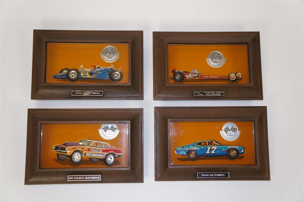Lot of four 1970 Ford Auto-Lite racing shadow boxes - Front 3/4 - 182284