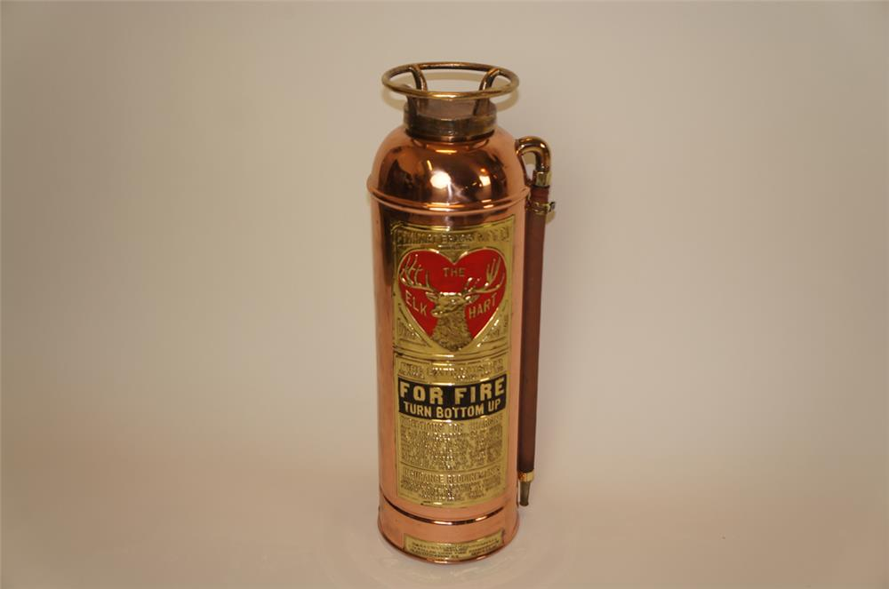 The Elk Hart Restored Brass And Copper Fire Extinguisher With 182286