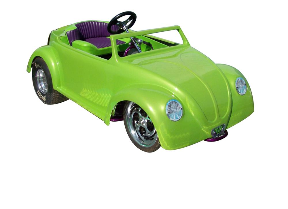 Very cool vintage Volkswagen Bug custom crafted Go Cart. - Front 3/4 - 182494
