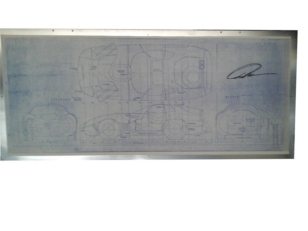 Original blueprints of Carroll Shelby's 1965 Super Coupe with original Peter Brock signature. - Front 3/4 - 182498
