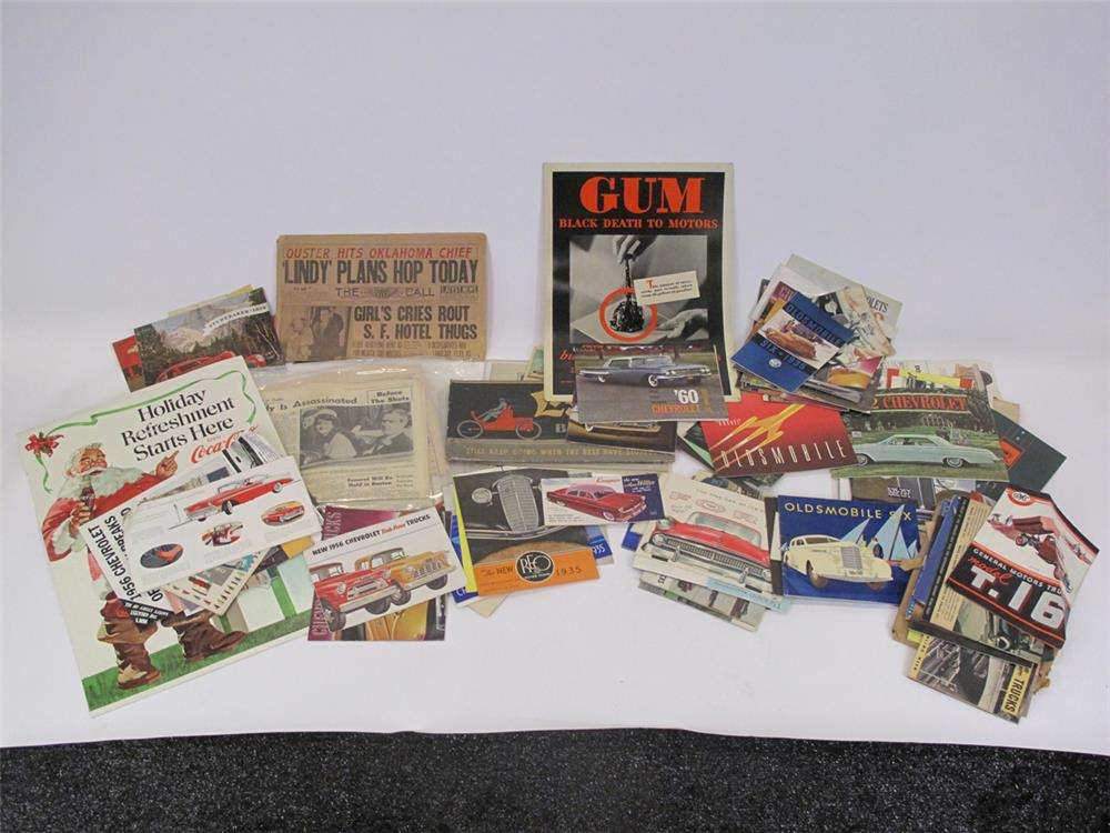 Addendum Item - Large lot consisting of over 40 automotive sales brochures from 1935-1960's and other ephemera. - Front 3/4 - 183149
