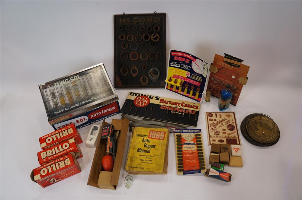 Addendum Item - Large lot of vintage automotive garage counter-top displays from 1930's-50's. - Front 3/4 - 183161