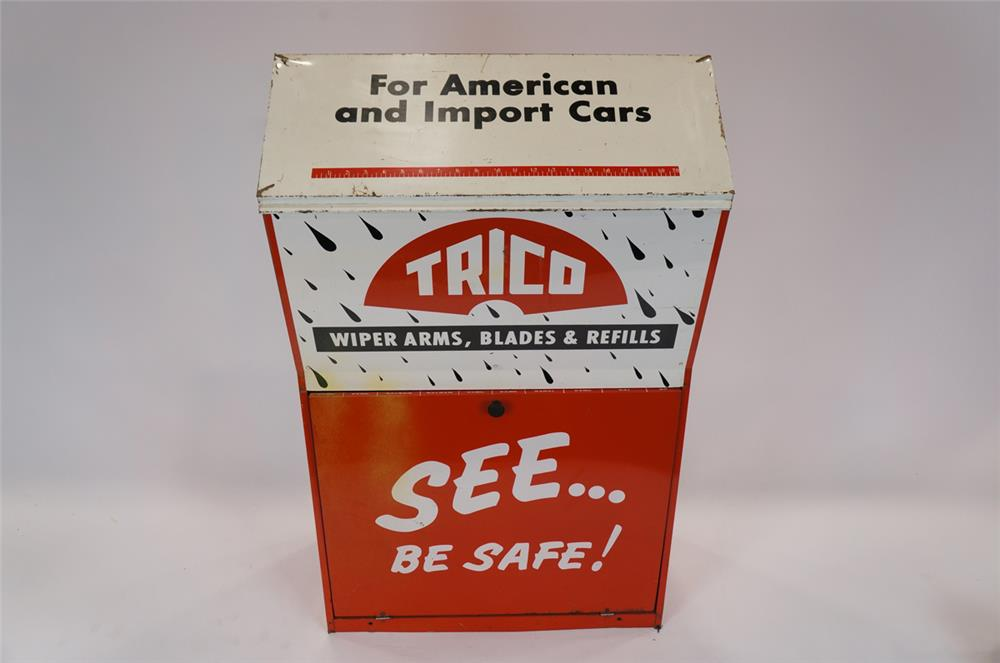 Addendum Item - Vintage Trico Windshield Service fuel island metal display cabinet. - Front 3/4 - 183164