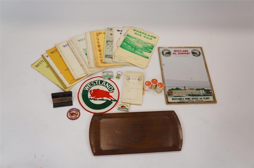 Addendum Item - Large lot of Westland Oil Buffalo Gasoline items from Minot, North Dakota. - Front 3/4 - 183167