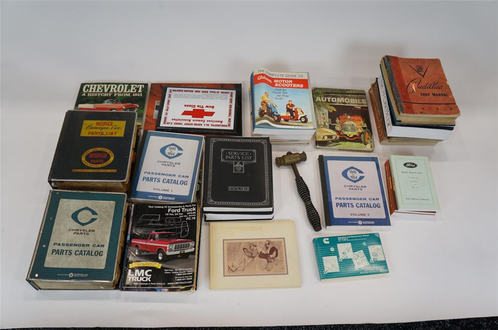 Addendum Item - Large lot of vintage service manuals and parts books including a 1949 Cadillac and other literature. - Front 3/4 - 183176