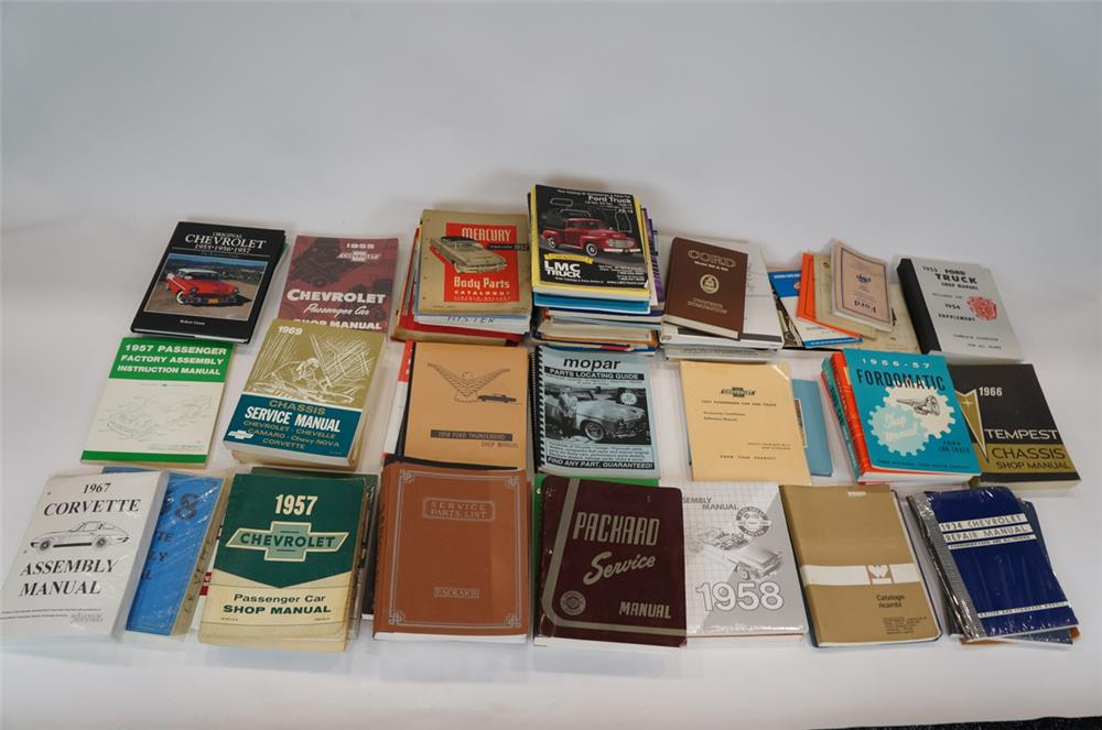 Addendum Item - Large lot consisting of vintage parts and service manuals for Chevrolet, Packard, Ford, Mercury and others. - Front 3/4 - 183180