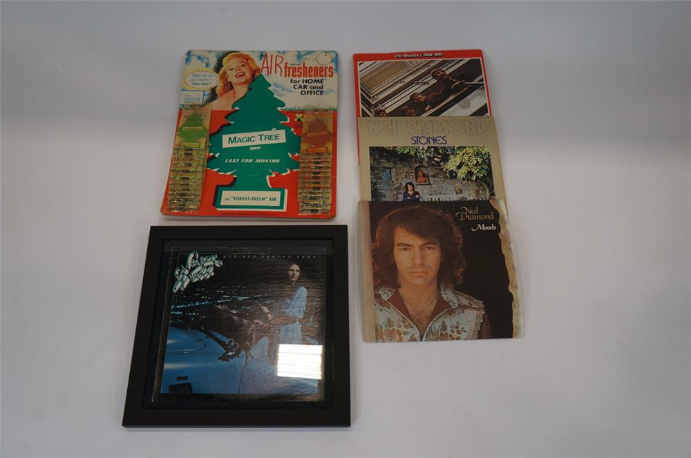 Addendum Item - Lot consisting of several vintage LP records and a 1970's Air Freshener display. - Front 3/4 - 183192