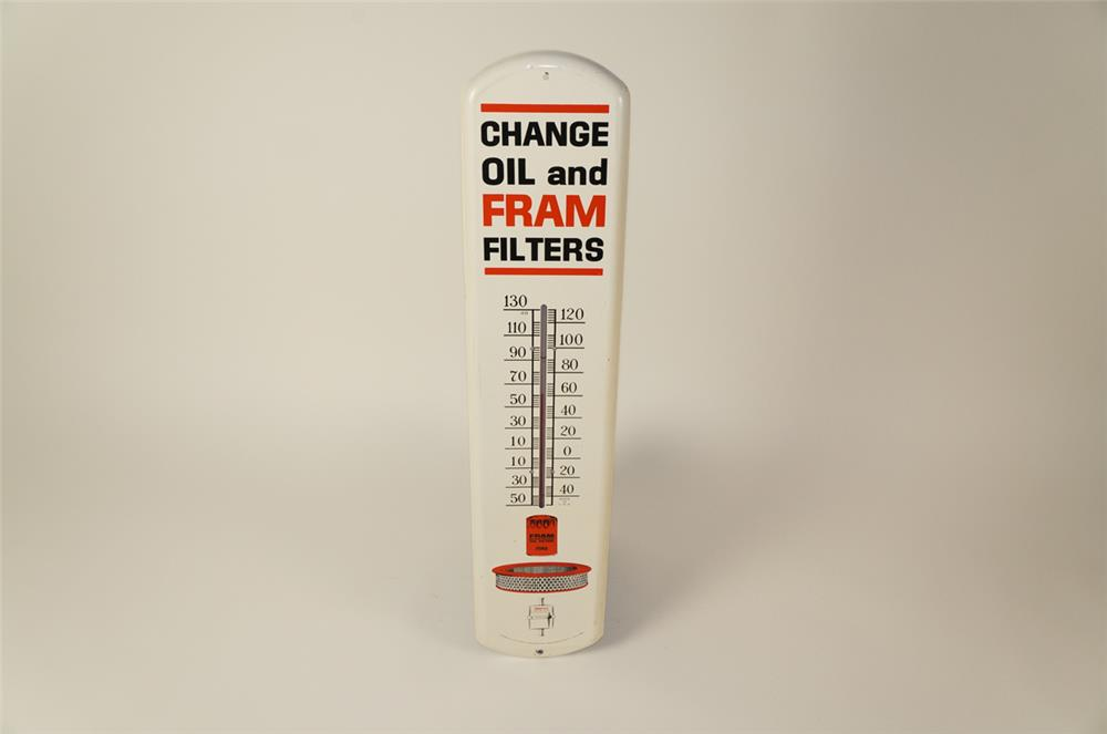 Choice oversized Fram Filters single-sided tin automotive garage thermometer with graphics. - Front 3/4 - 184502