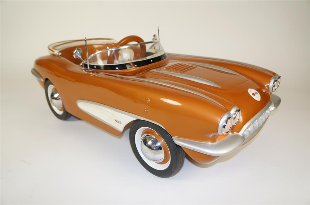 Lot #5866.3 Highly desirable 1958 Corvette sting ray pedal car by Eska.
