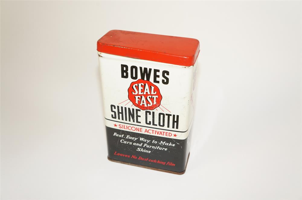 1950s Bowes Seal Fast Automobile Shine Cloth tin. - Front 3/4 - 184658