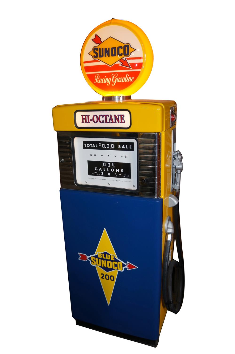 Killer 1950s-60s Wayne 505 Sunoco Hi-Octane Racing Fuel ...