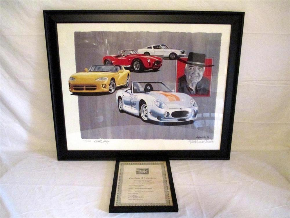 "Fantastic ""Carroll Shelby Legacy"" Harold James Cleworth number 93 of 500 lithograph pencil artwork signed by Carroll Shelby and artist Harold Cleworth. - Front 3/4 - 184799"