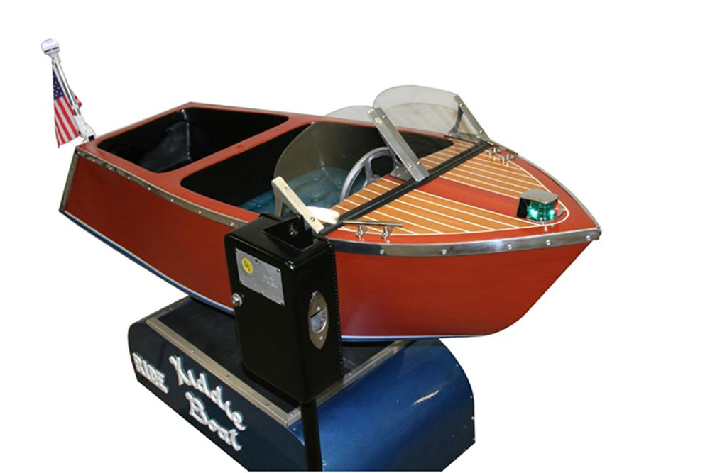 Lot #5867 Outstanding 1950s coin-operated Christ Craft Kiddie Boat Ride.