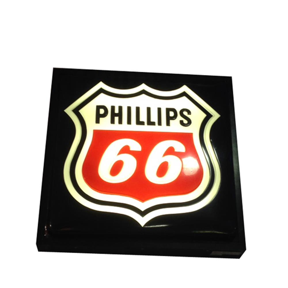 Nice Phillips 66 single-sided light-up service station sign. - Front 3/4 - 184820