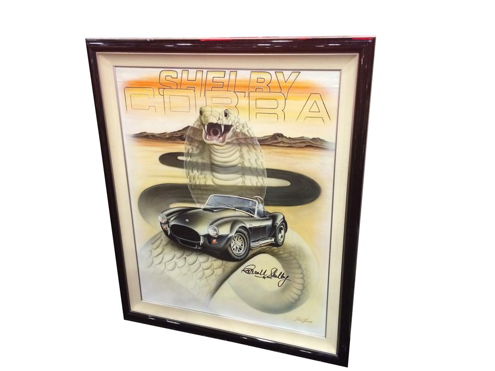 Addendum Item - Reserve - Beautiful Shelby Cobra Tribute to Carroll Shelby Series 1 oil painting by artist Ruel James. - Front 3/4 - 185371