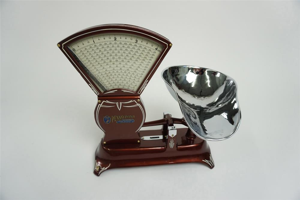 Magnificent 1920s Pennsylvania restored soda fountain candy scale. - Front 3/4 - 185954
