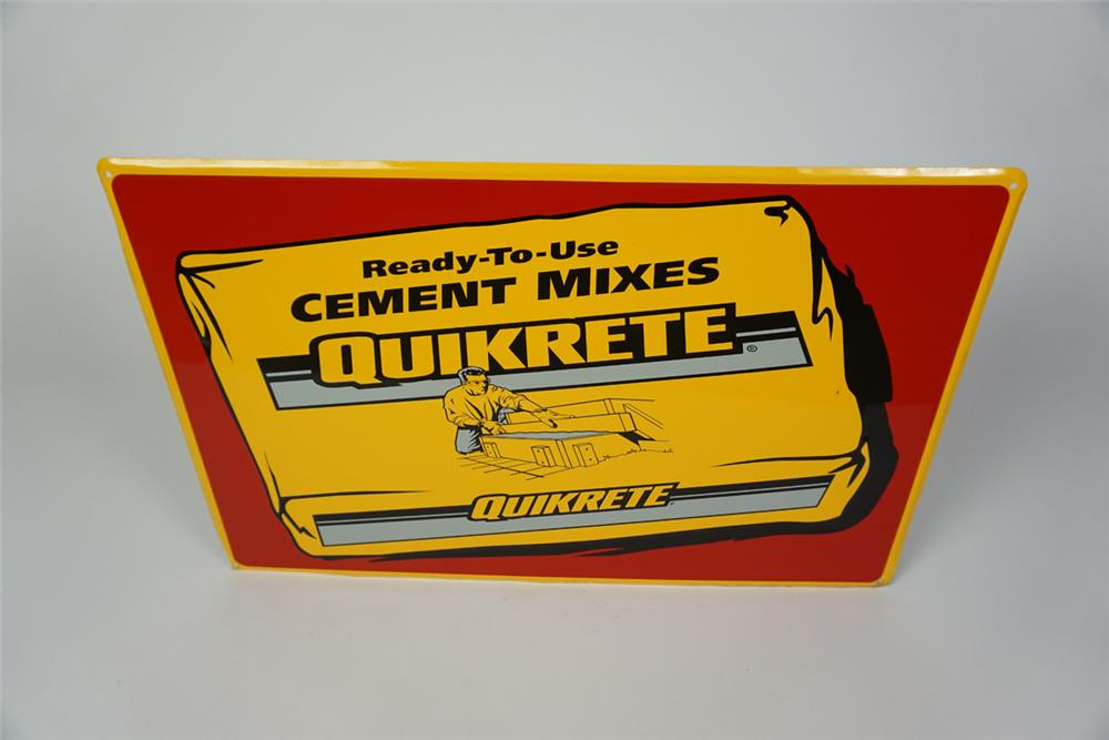 NOS Quikrete Cement Mixes single-sided self-framed tin sign with graphics. - Front 3/4 - 186031
