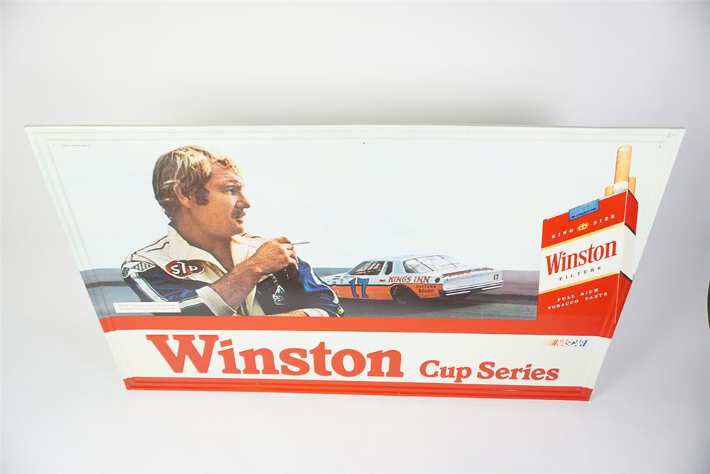 "Choice NOS 1981 Winston Cigarettes ""Nascar Winston Cup Series"" single-sided self-framed tin sign - Front 3/4 - 186060"