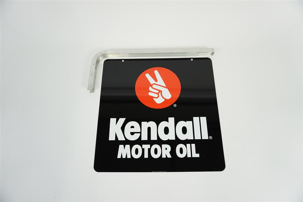 Nos Kendall Motor Oil Double Sided Tin Automotive Garage