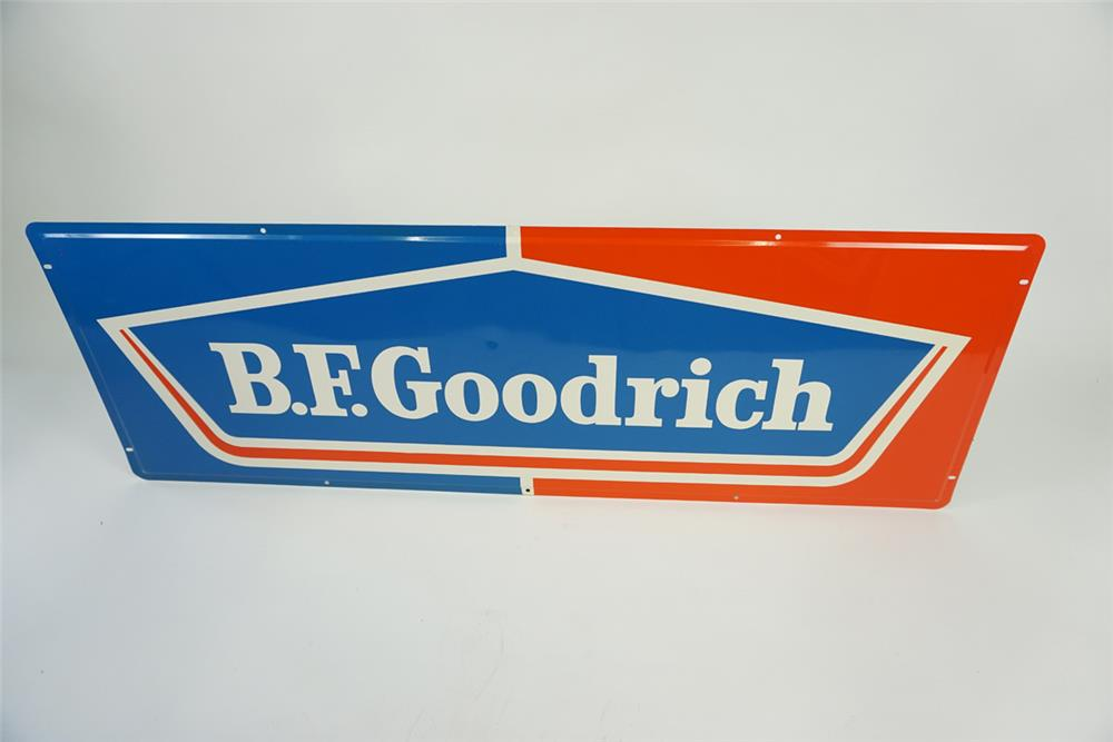 NOS 1960s BF Goodrich Tires single sided tin automotive garage sign. - Front 3/4 - 186147