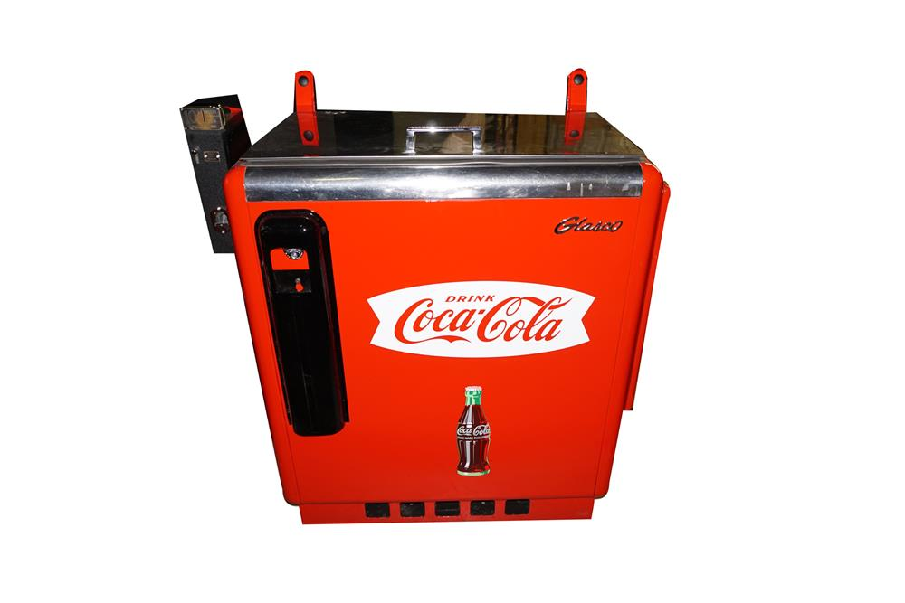 Wonderful 1950s Glasco Coca-Cola five selection ten cent coin operated slider soda machine. - Front 3/4 - 186155
