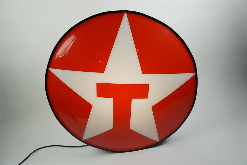 Large Texaco single-sided light-up service station sign - Front 3/4 - 186169