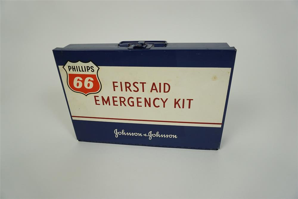 1960s Phillips 66 service station Emergency First Aid Kit. - Front 3/4 - 186201